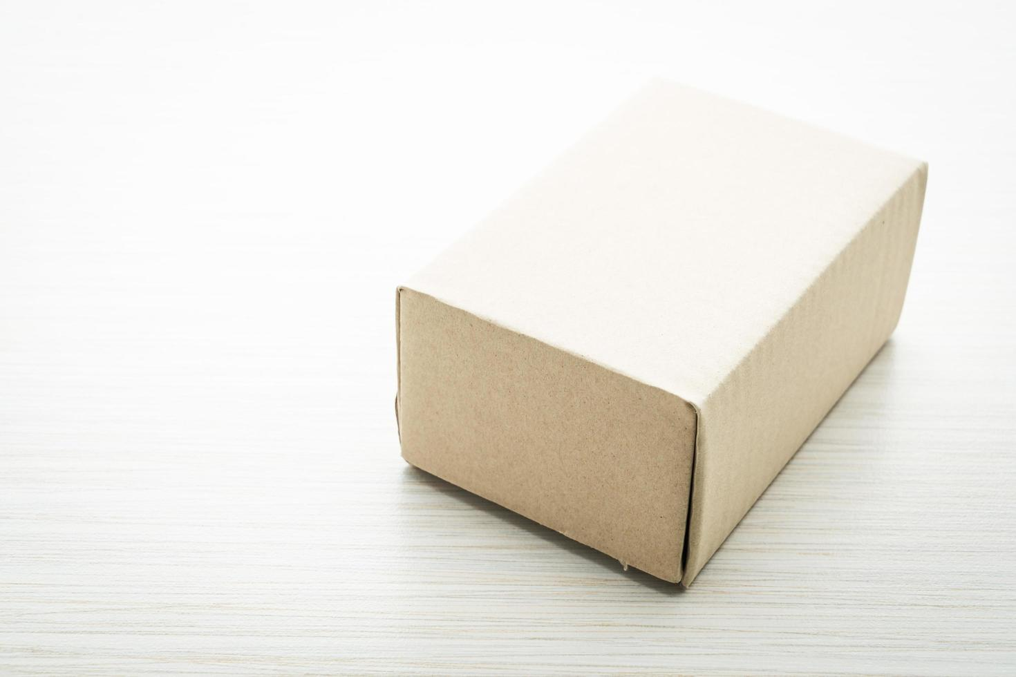braune Box verspotten foto
