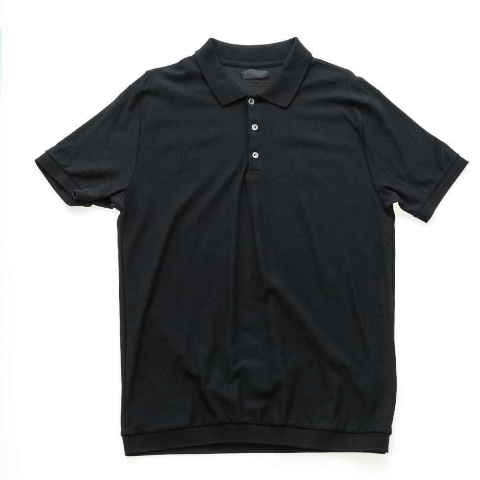 schwarzes Poloshirt foto