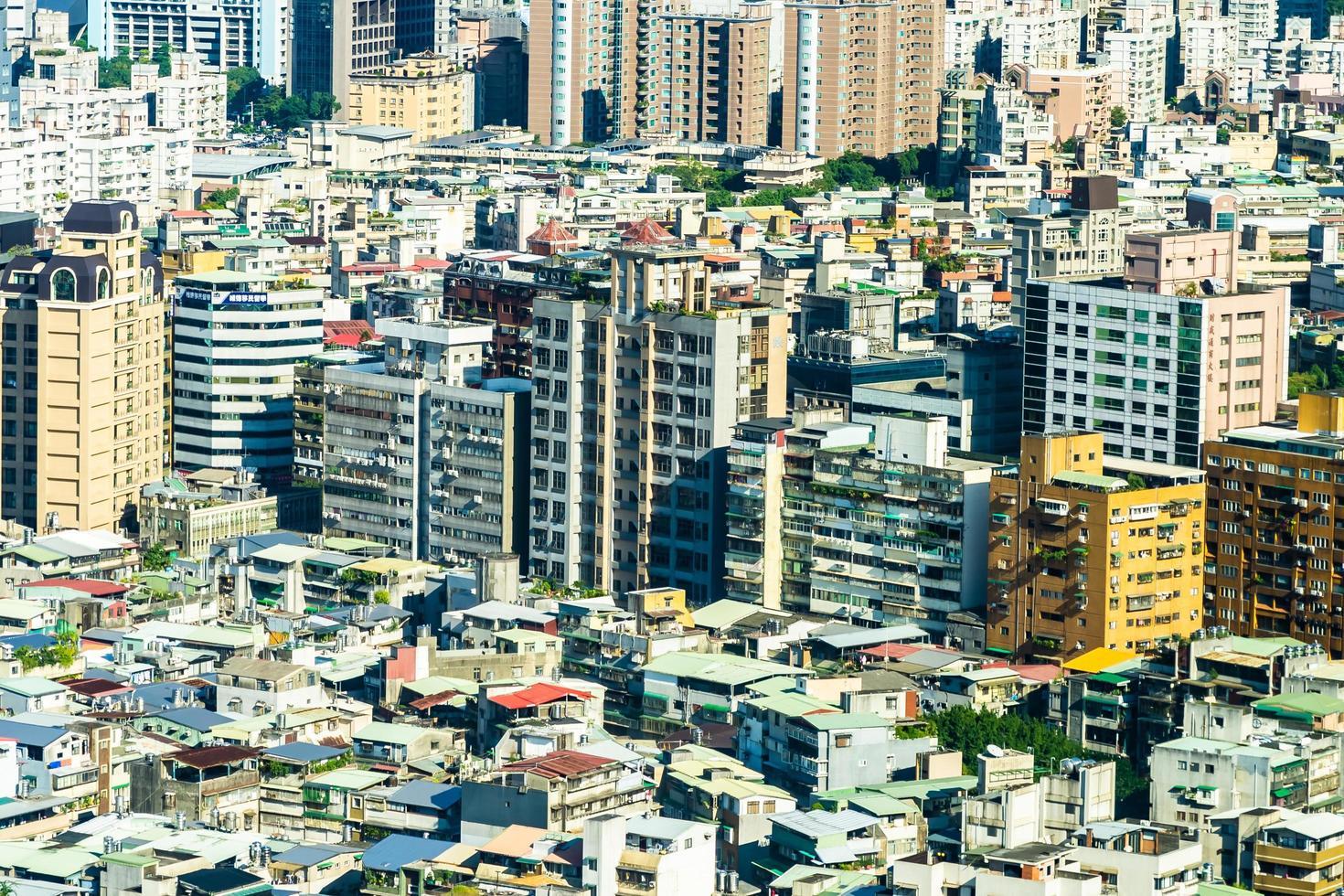 Stadtbild der Stadt Taipeh in Taiwan foto