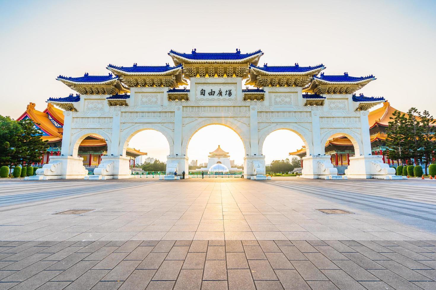 Chiang Kai-Shek Gedenkhalle in der Stadt Taipeh, Taiwan foto
