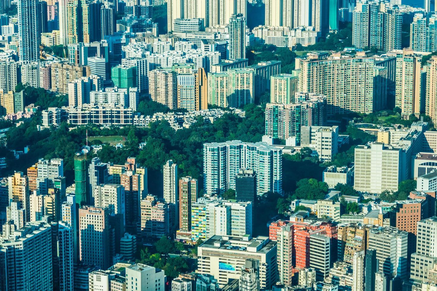 Gebäude von Hongkong, China foto