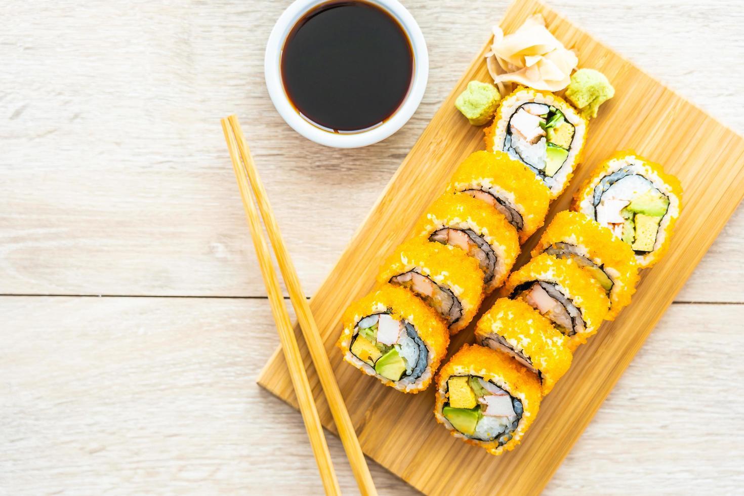 Kalifornien Maki rollt Sushi foto