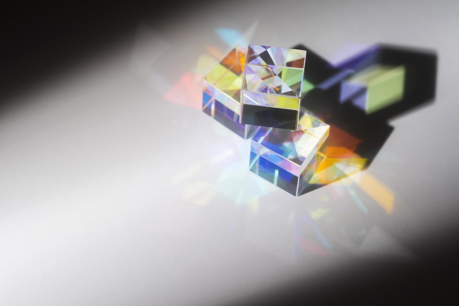 bunter Lichtprismenreflexionshintergrund foto