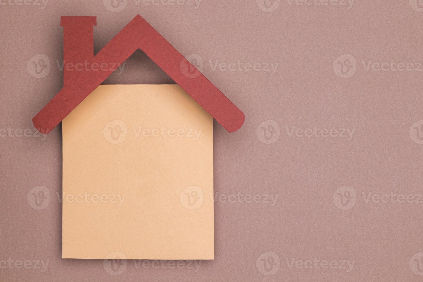Zuhause Stillleben Papierschnitt Konzept foto