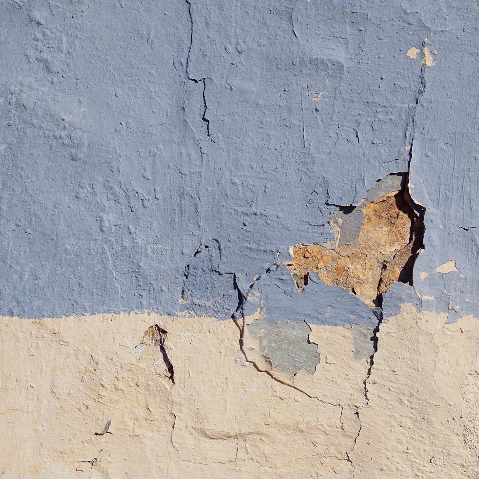 alte blaue Wand Gebäudefassade foto