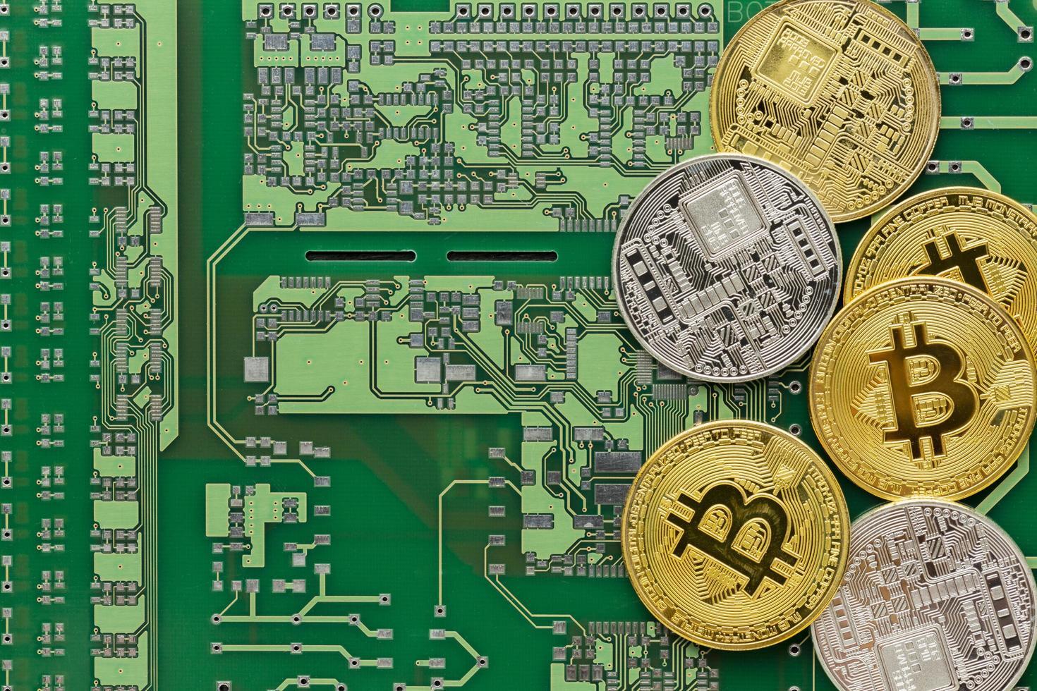 Bitcoins auf der Festplatte foto