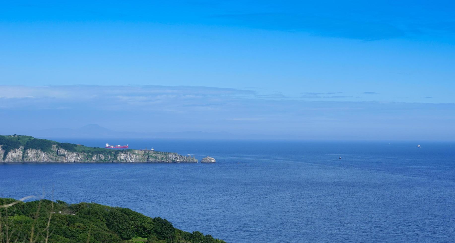 Seelandschaft mit Blick auf den östlichen Bosporus foto
