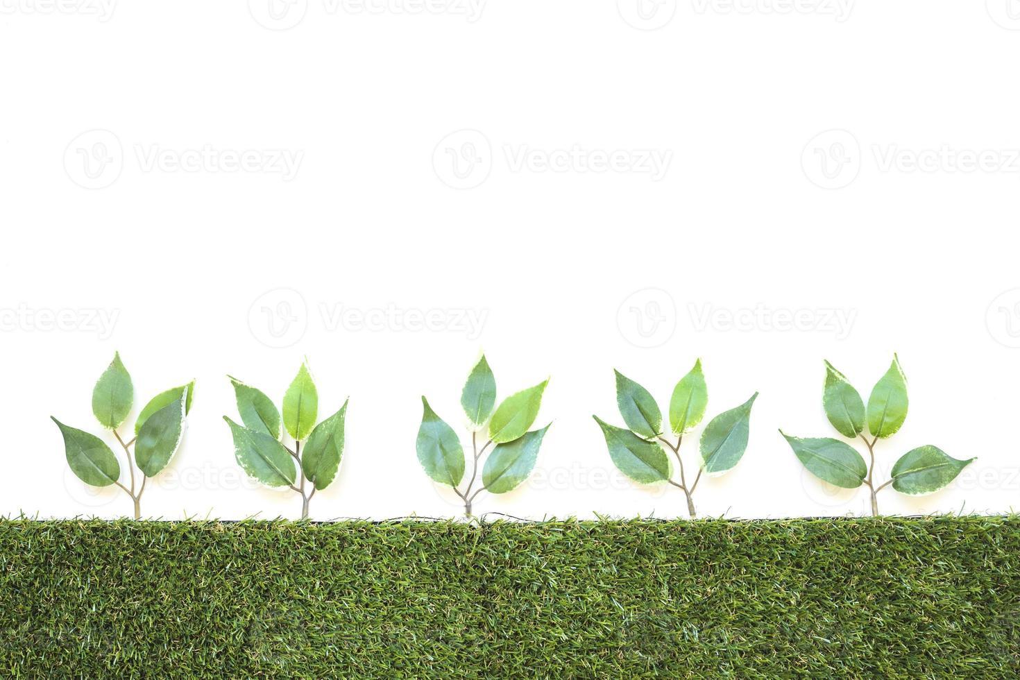 Reihe künstlicher Zweige foto