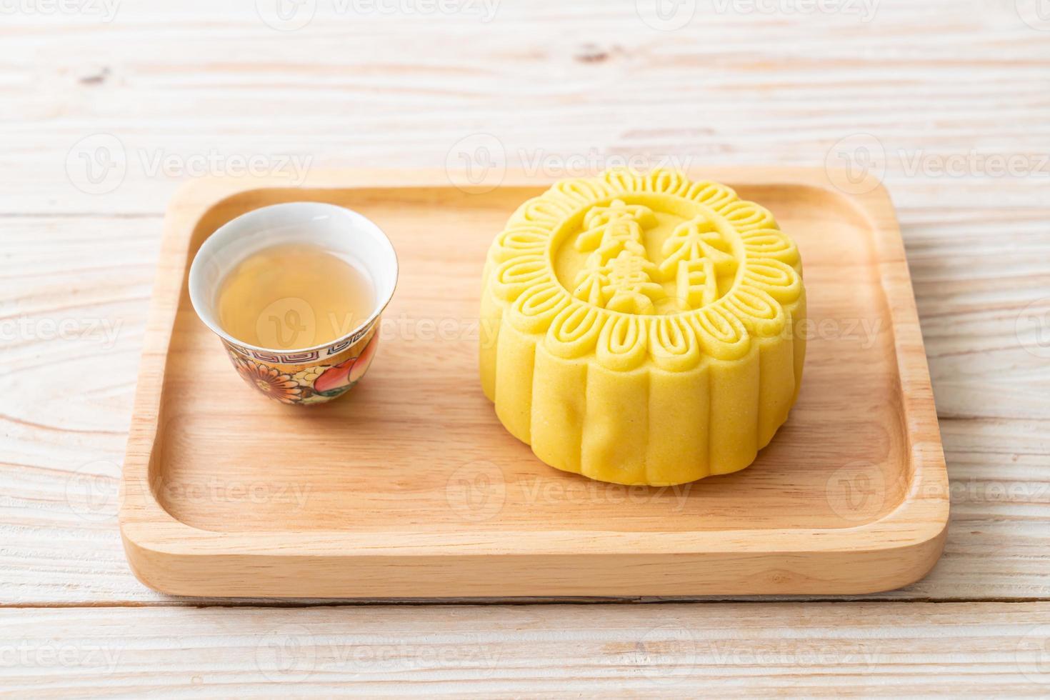 chinesischer mondkuchen puddinggeschmack foto
