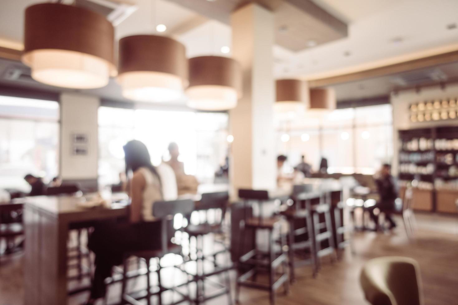 abstrakte Unschärfe Coffeeshop und Restaurant Interieur foto