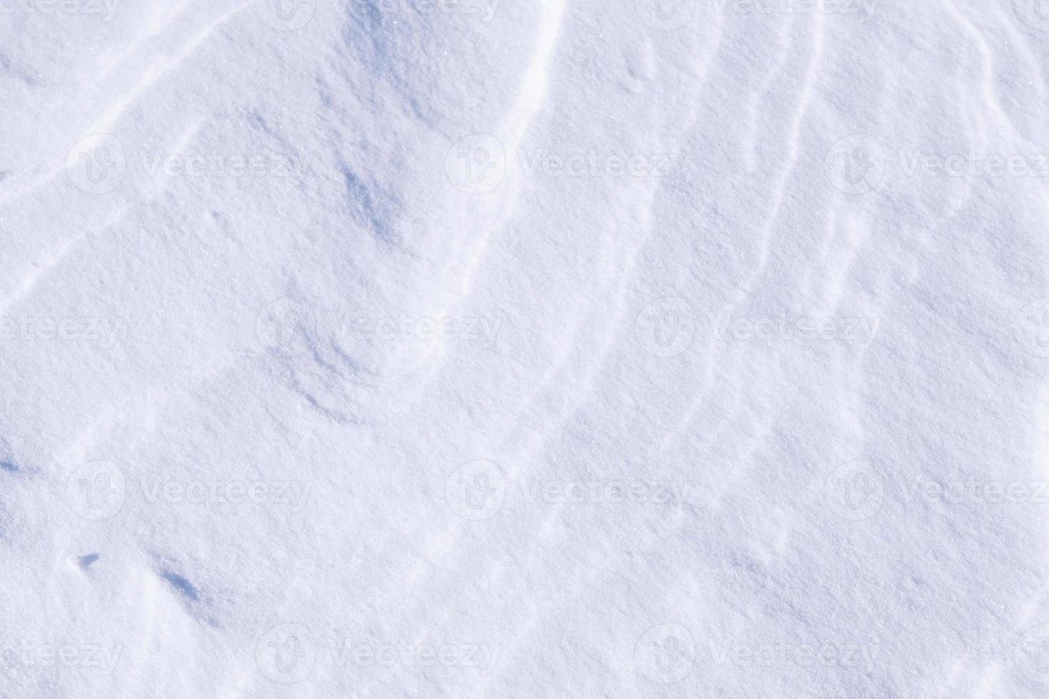 saubere weiße Schneetextur aus Eiskristallen foto