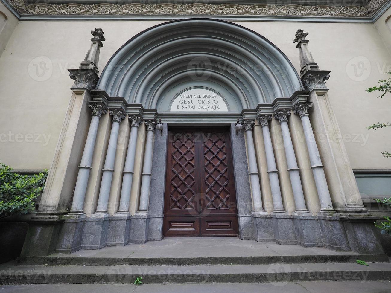 tempio valdese waldenser tempelkirche in turin foto