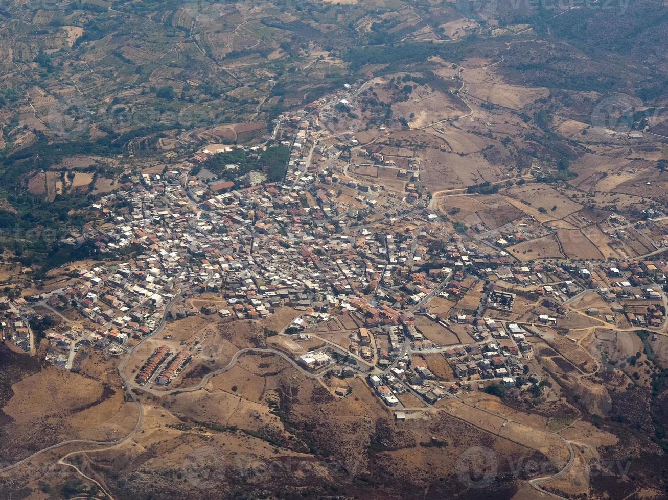 Luftaufnahme von Sardinien foto