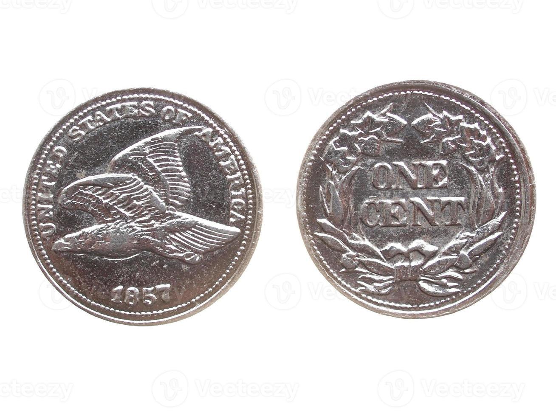 eine Cent-Münze isoliert foto