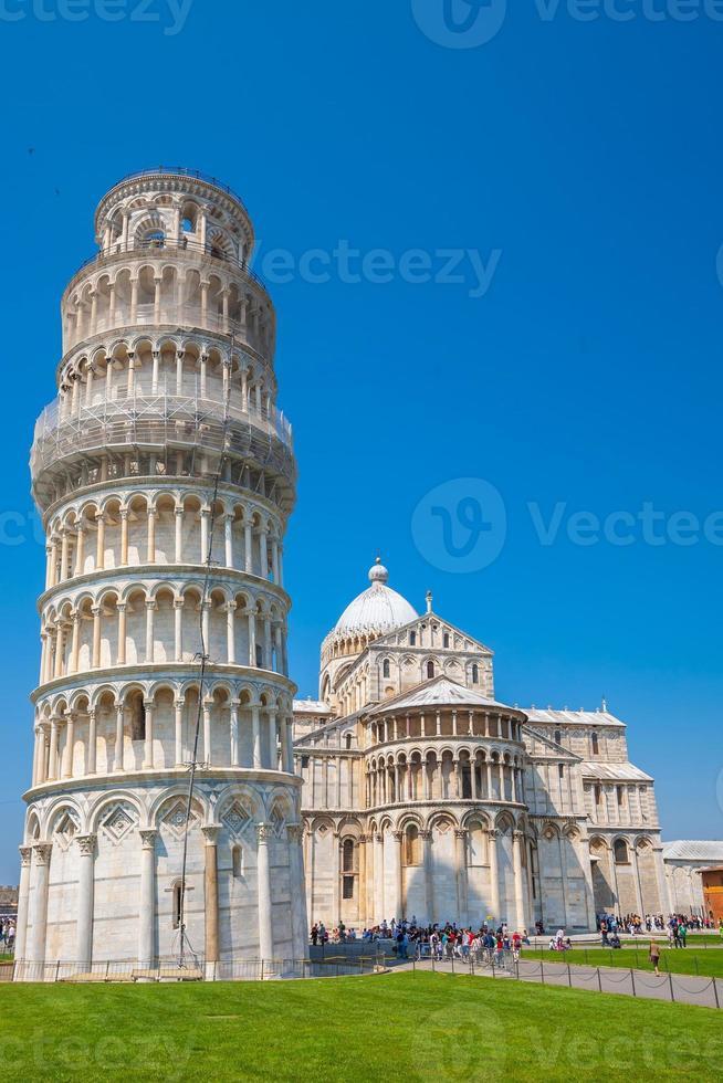 der schiefe Turm, Pisa City Innenstadt Skyline Stadtbild in Italien foto