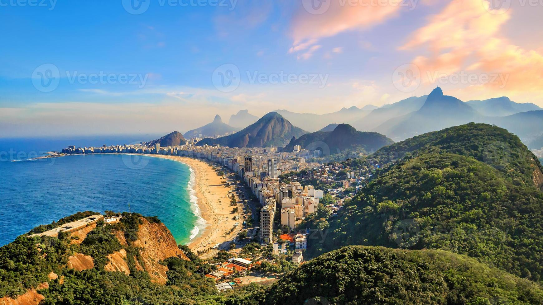 Copacabana-Strand und Ipanema-Strand in Rio de Janeiro, Brasilien foto