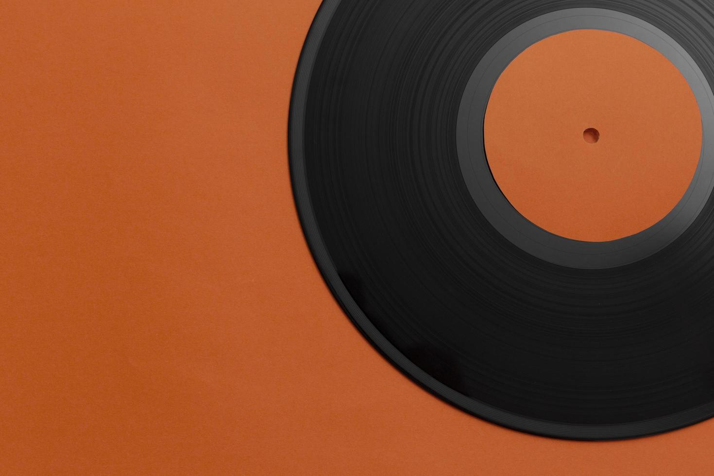 Draufsicht Schallplattenanordnung foto