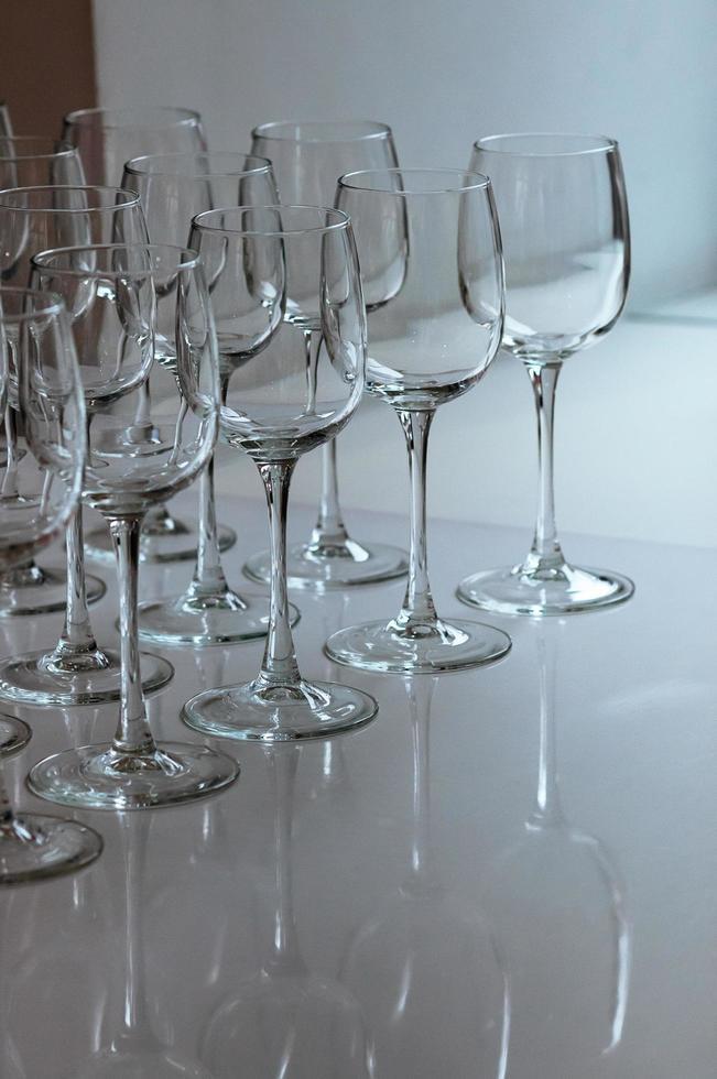 Leere Gläser Event-Catering foto