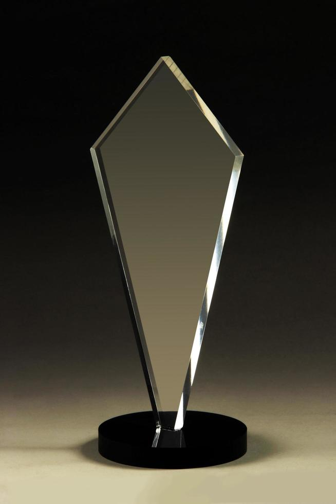 Acryl-, Kristall- oder Glas-transparente Blankglas-Trophäe foto