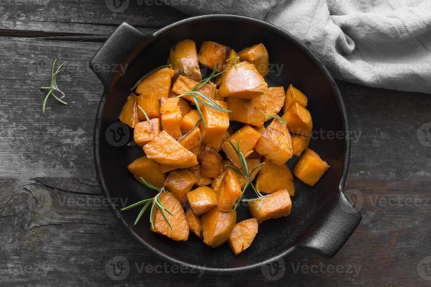 Süßkartoffel-Essen foto