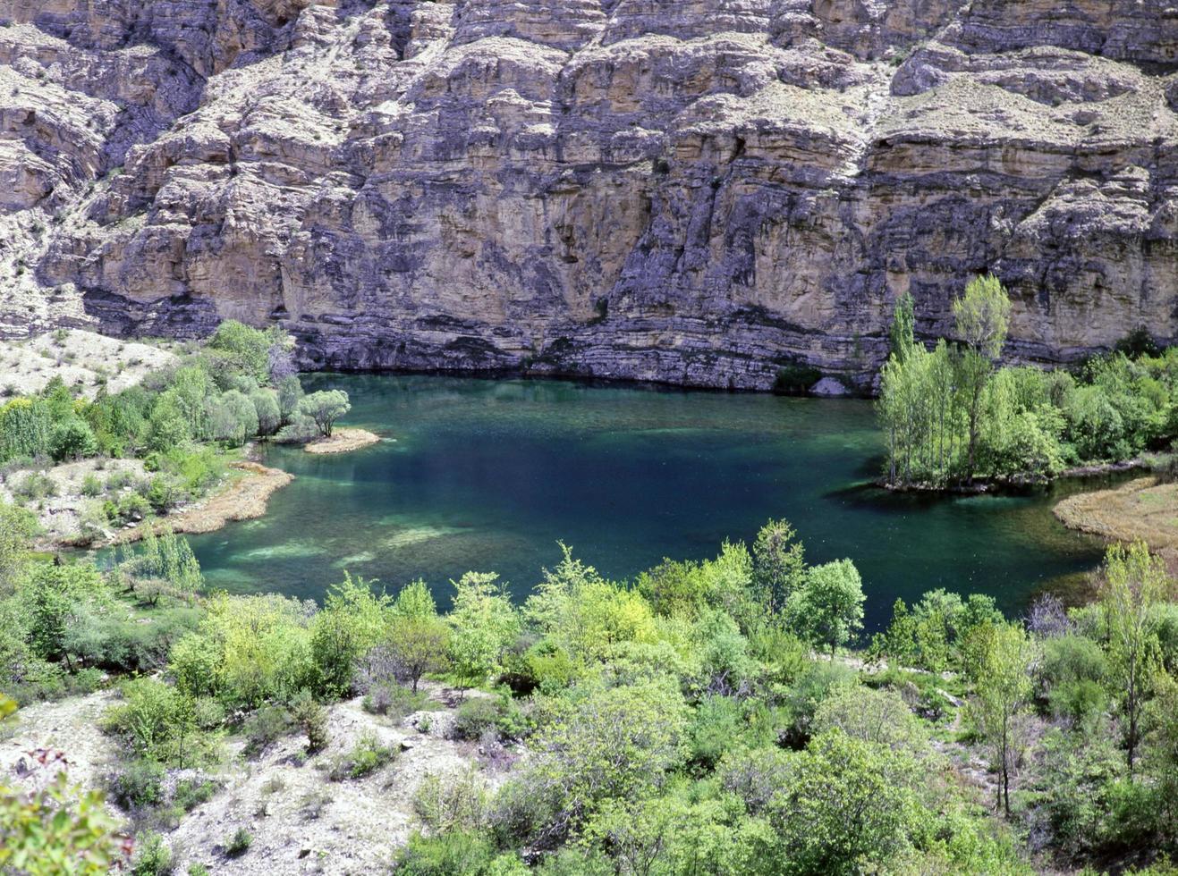 Blick auf den Osten der Türkei, Seen, Berge, Flüsse. foto