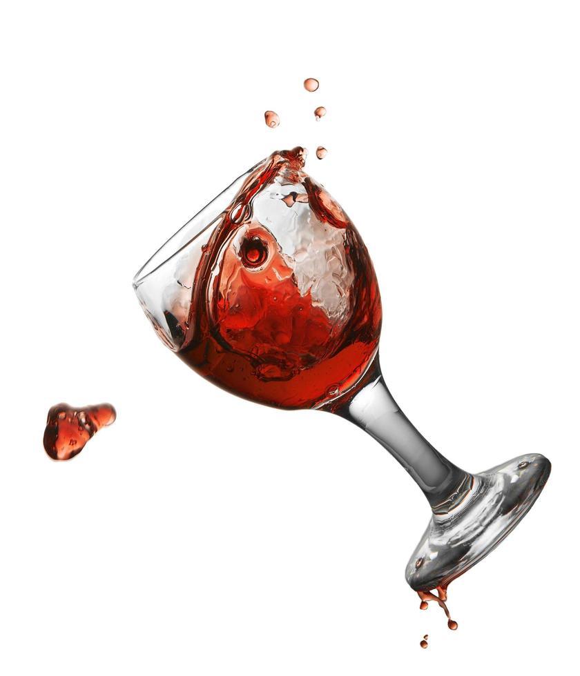 Glas mit Wasser foto