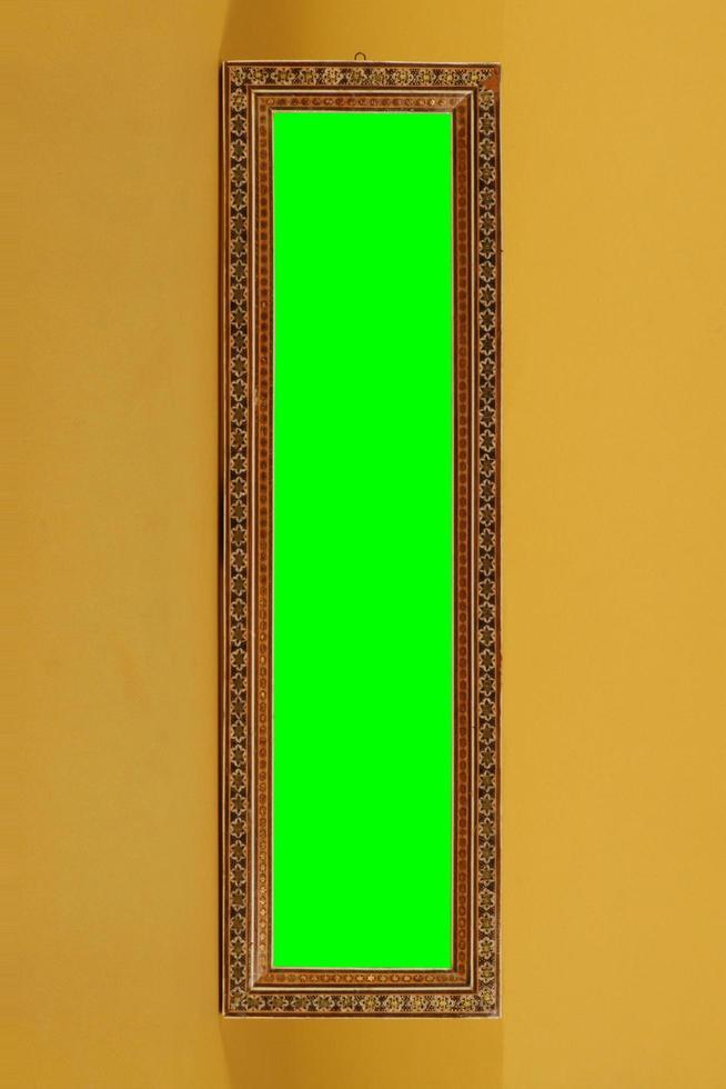 leerer Rahmen aus Holz oder künstlichem Material. foto