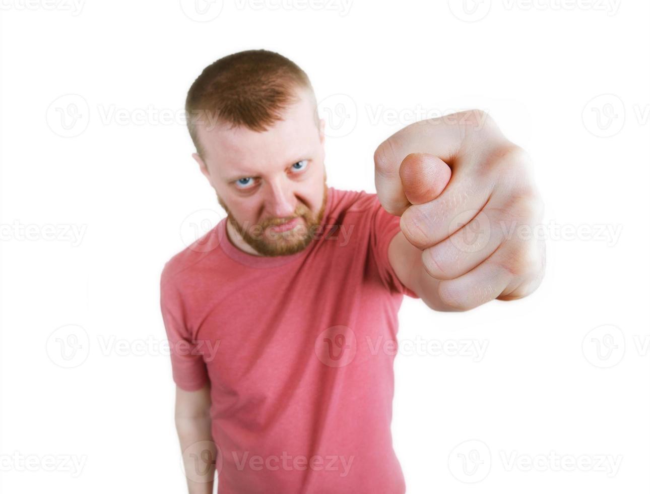 wütender bärtiger Mann gezeigt fig foto