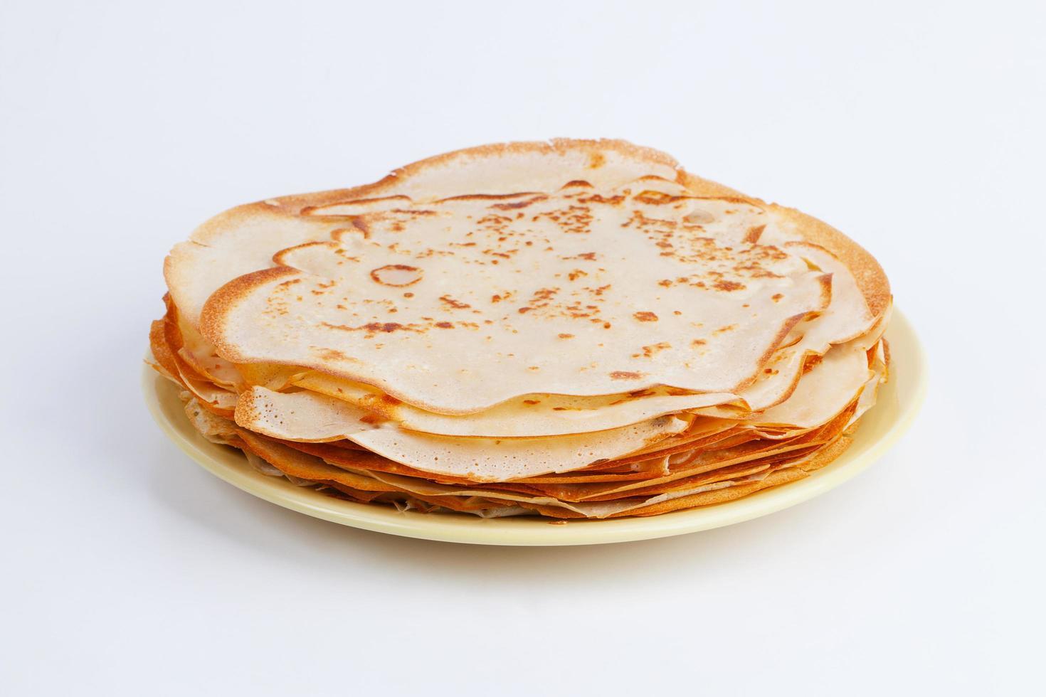 rosiger Stapel Pfannkuchen foto