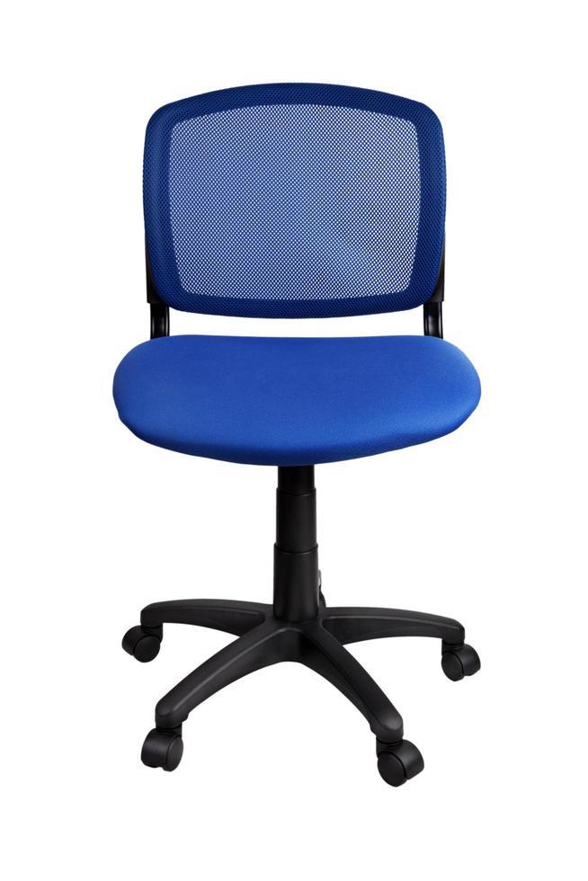 blauer Bürostuhl foto