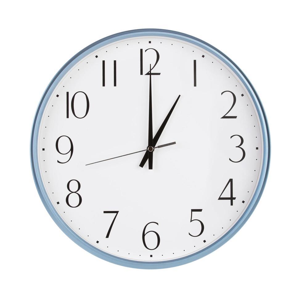 genau eine Stunde auf der runden Uhr foto