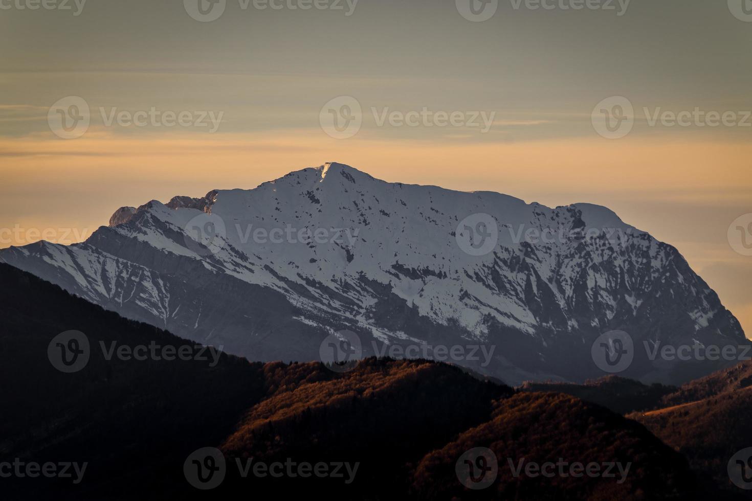 Mount Grigna über Lecco Italien. Ostseite foto