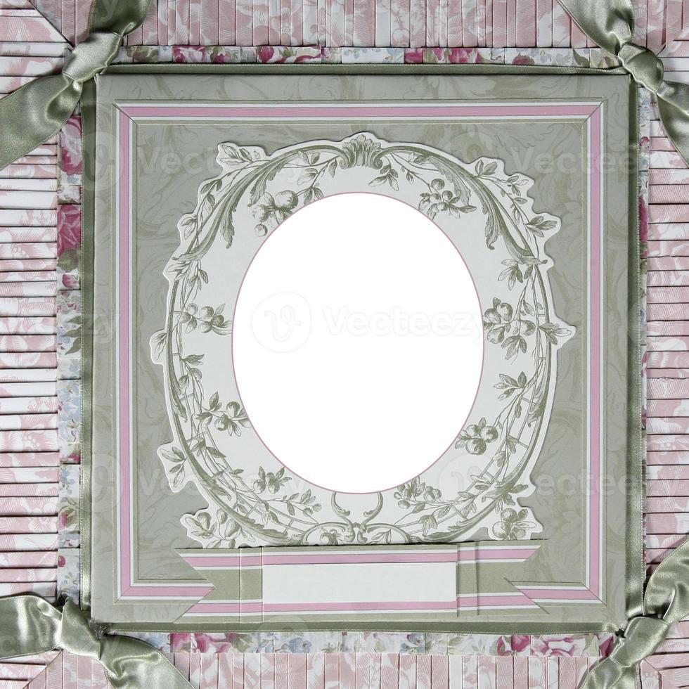 Rahmenvorlage für das Sammelalbum zum Thema Erbe foto