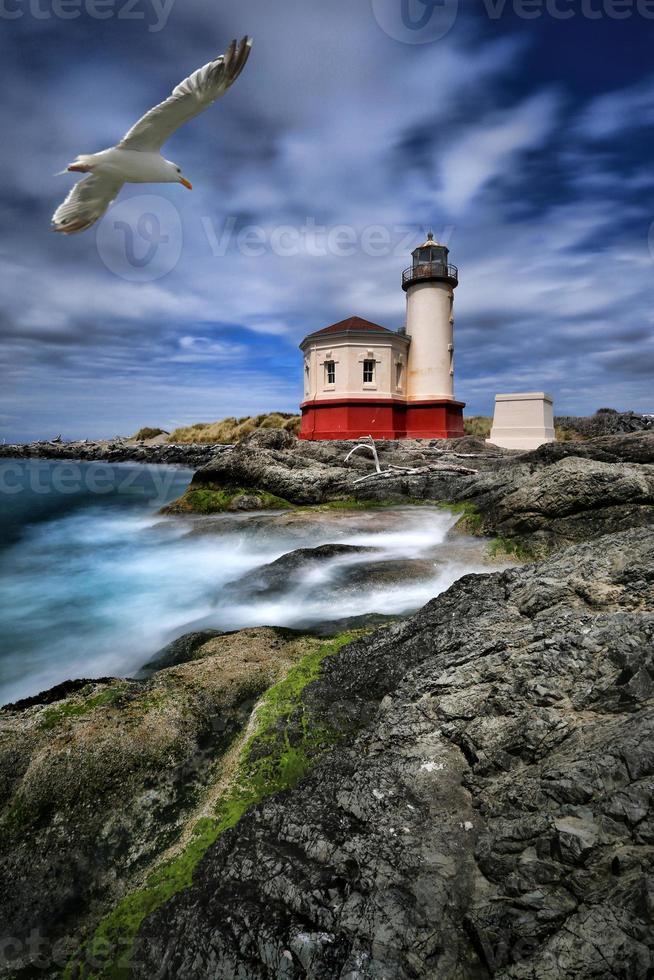 Bild eines Leuchtturms in Oregon, USA foto