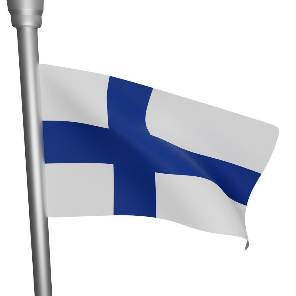 finnischer nationaler tag foto