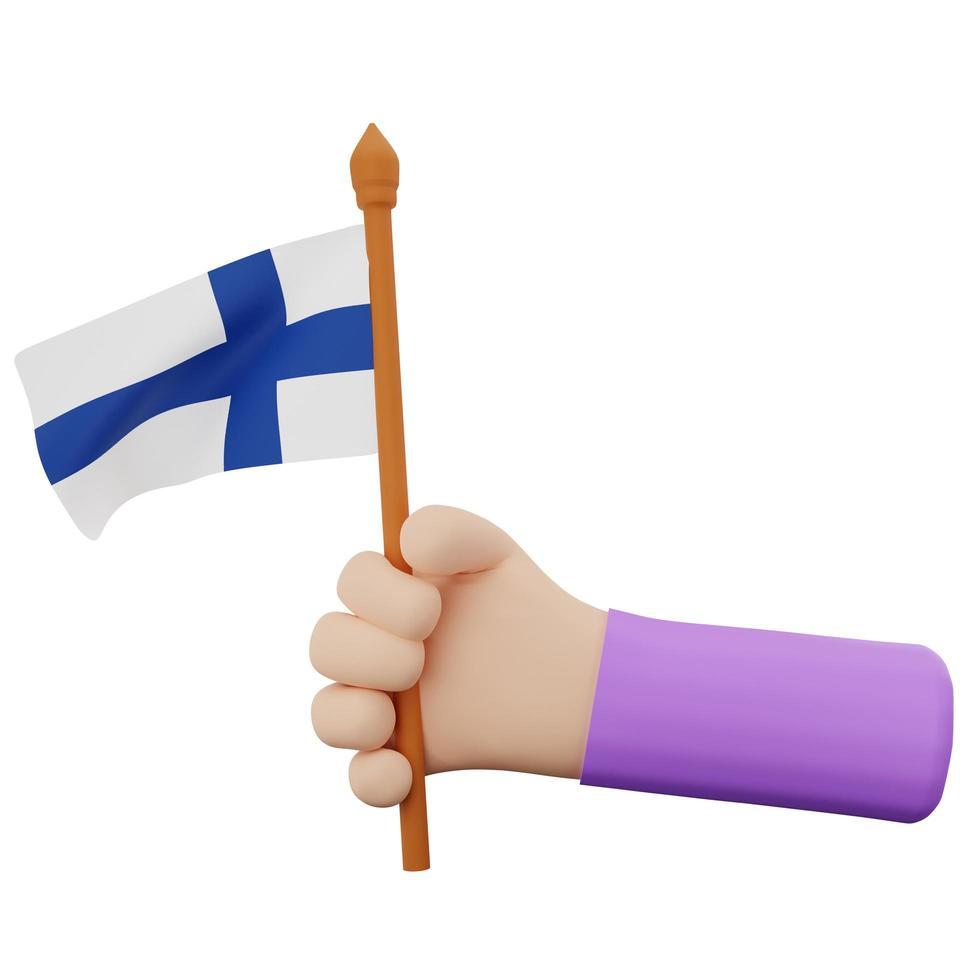 Konzept zum finnischen Nationalfeiertag foto
