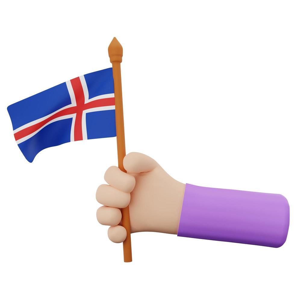 Konzept zum isländischen Nationalfeiertag foto