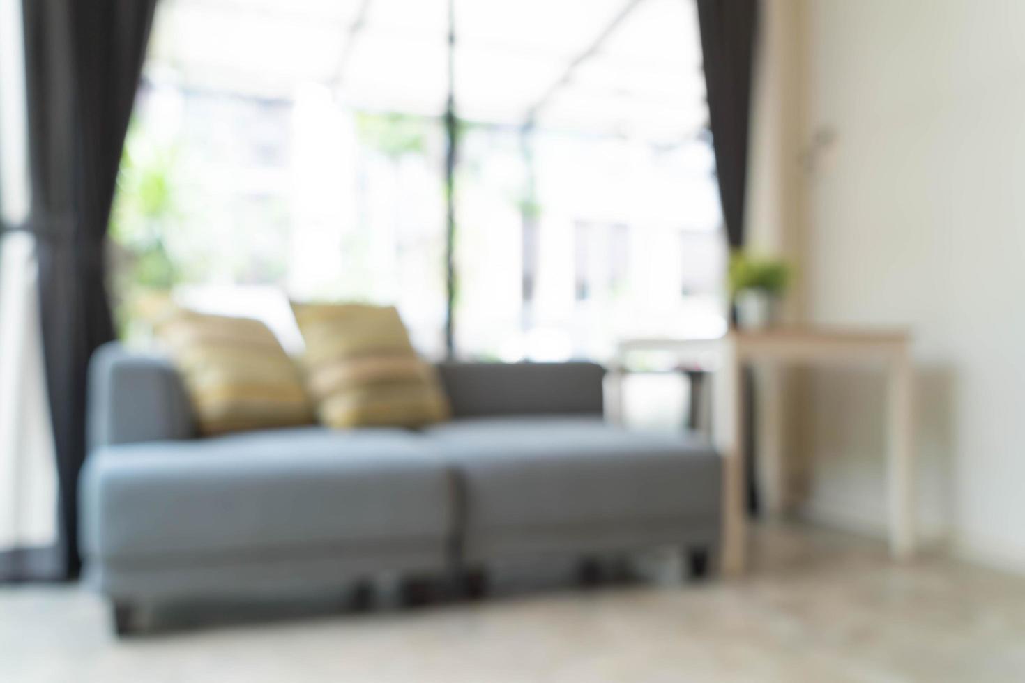 abstrakte Unschärfe moderne Inneneinrichtung im Wohnzimmer foto