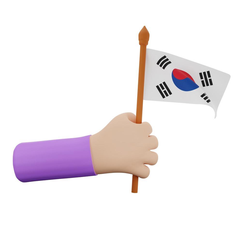 Konzept zum Nationalfeiertag in Südkorea foto