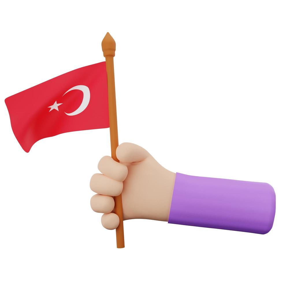 Konzept für den Nationalfeiertag der Türkei foto