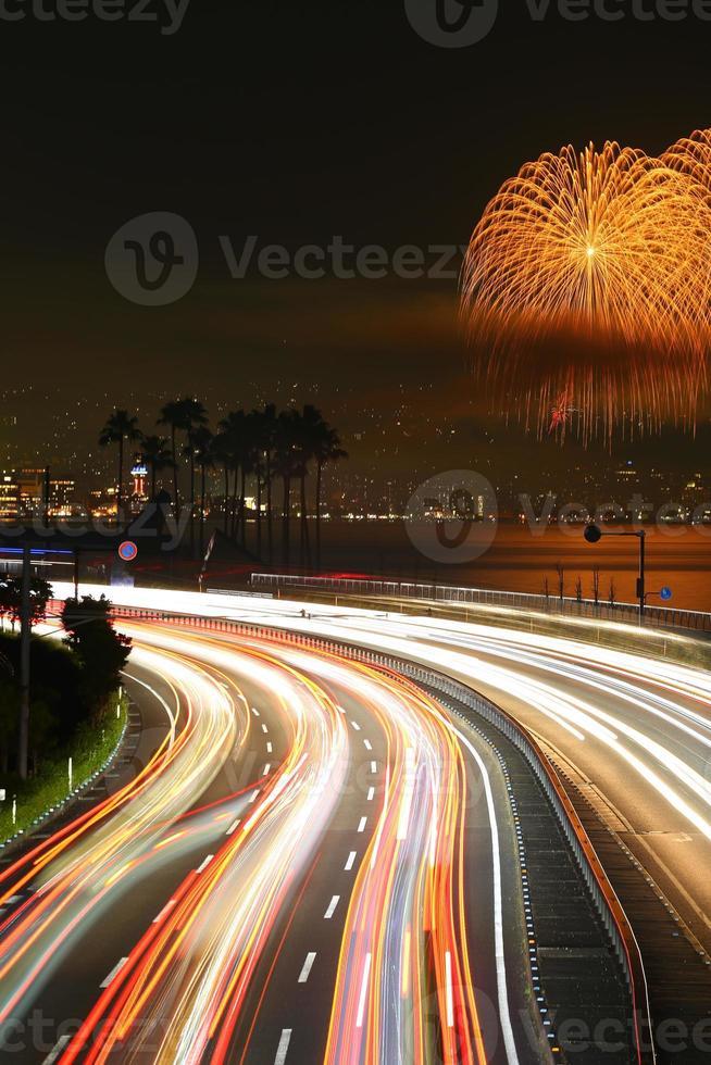 Beppu von Feuerwerk foto