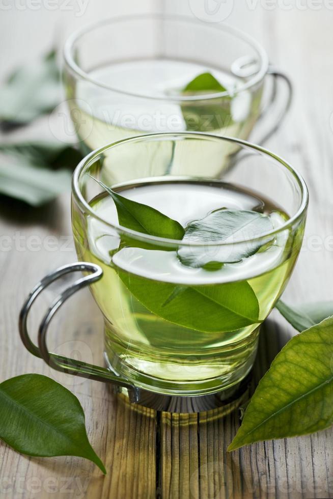 grüner Tee foto