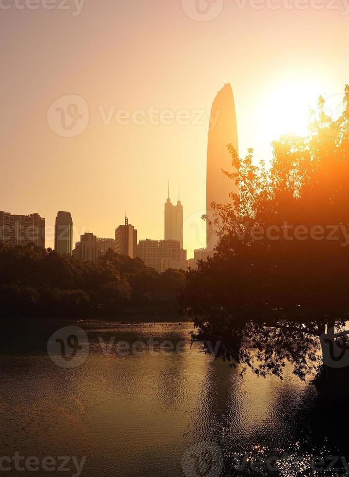 Skylines in der Stadt Shenzhen foto