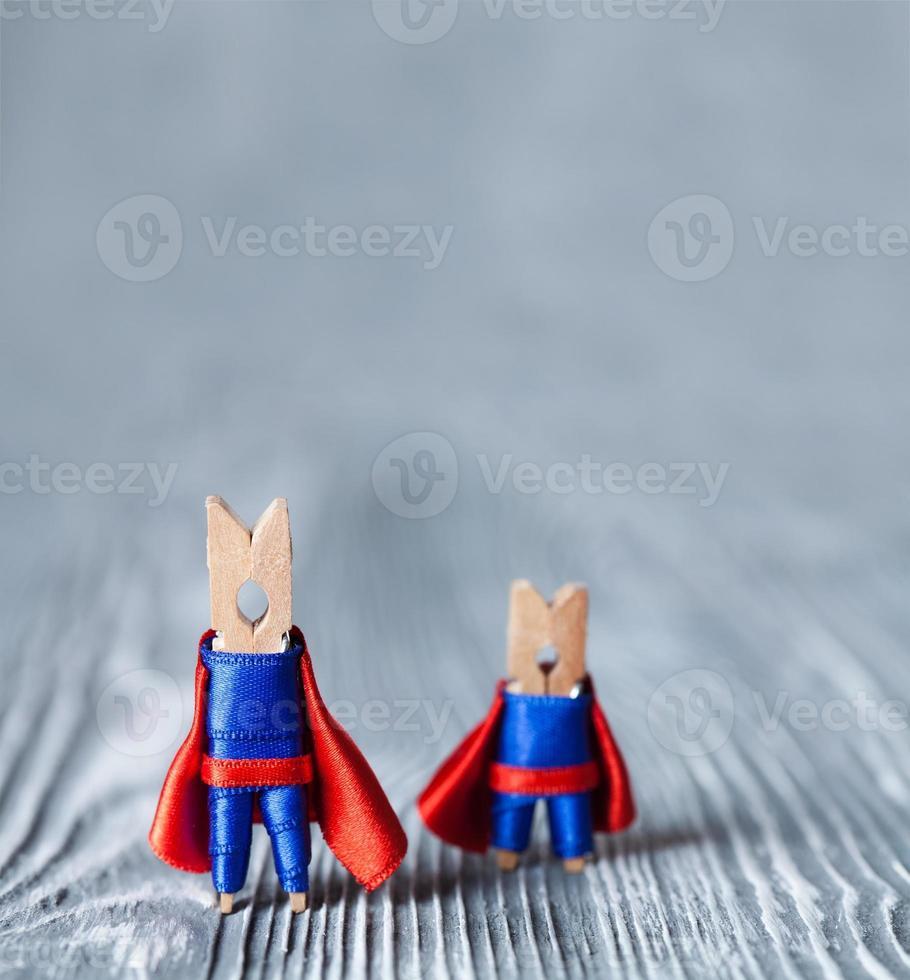 Wäscheklammern Superhelden foto