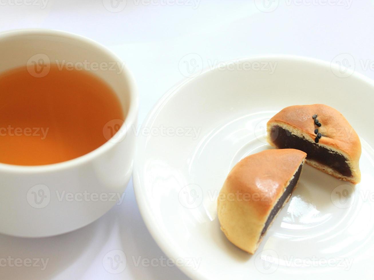 japanischer wagashi kuchen foto