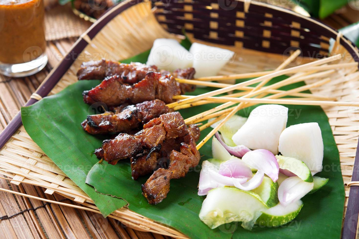 Satay gegrilltes Fleisch foto