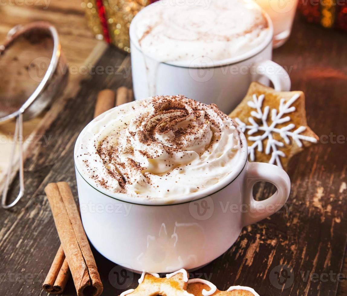 Kaffee mit Schlagsahne foto