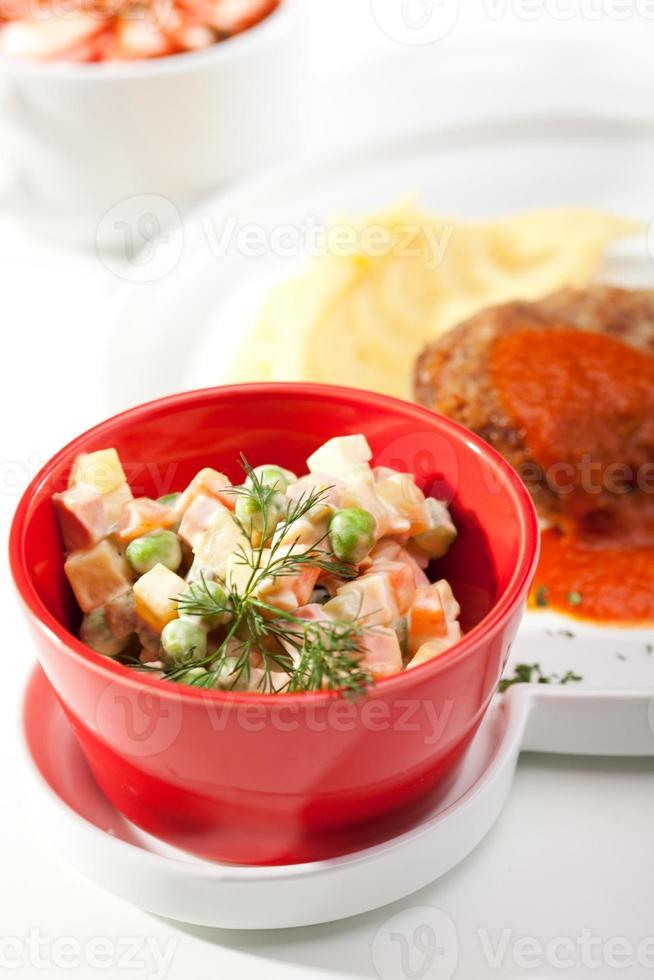 russisches Abendessen foto