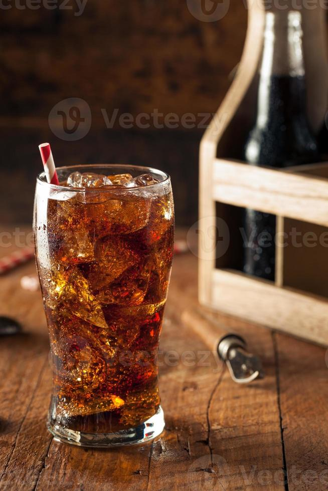 erfrischender sprudelnder Soda Pop foto