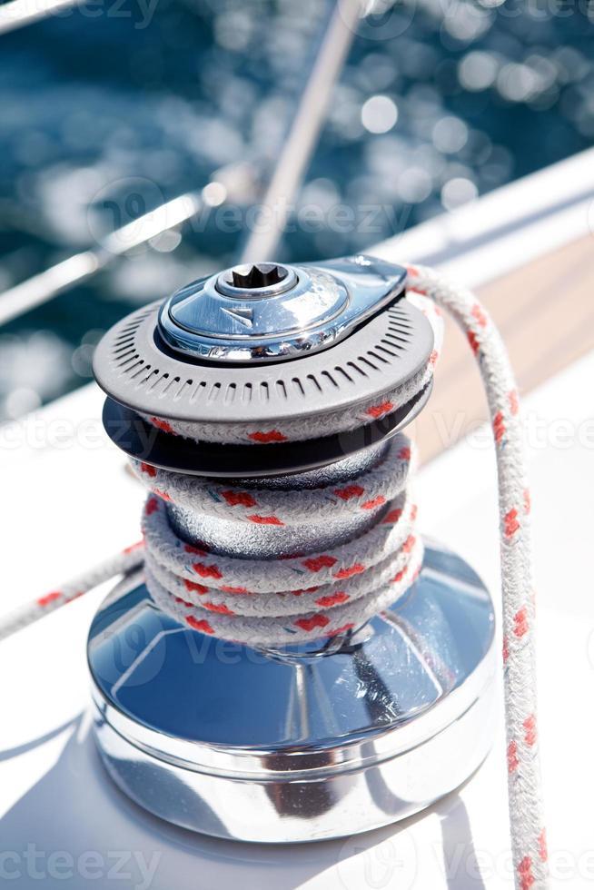Segelboot Winde foto